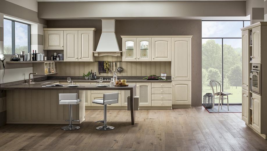 cocinas arrex propone magda un clsico de la cocina equipada diseado en el pleno respeto de la tradicin y disponibles en madera teida cerezo y